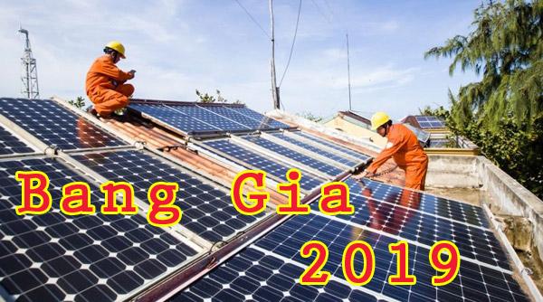 Bảng Giá Lăp Đặt Điện Mặt Trời 2019 – Hà Nội, Miền Bắc